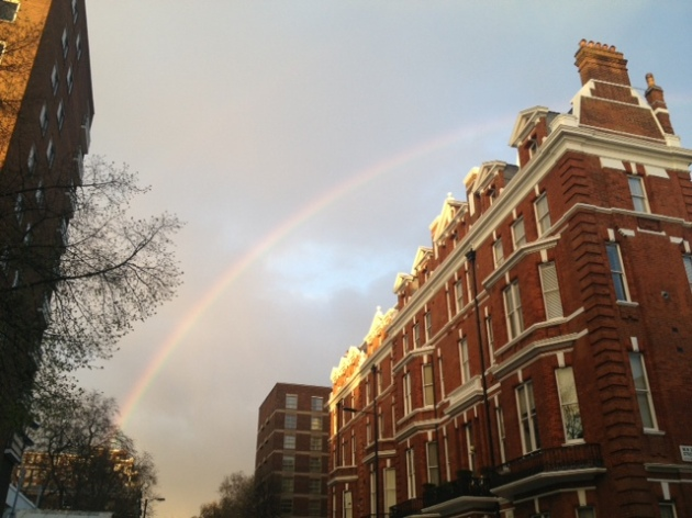 Portman Square rainbow