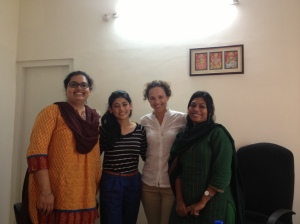 With the Agastya programme coordinators - I'm the one with the boring clothes :)
