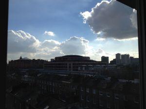 Library clouds - menacing...