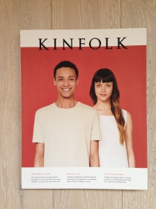 The latest issue of Kinfolk magazine - on my floor, waiting to be read.